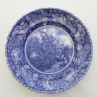 Staffordshire Historical Plate, pre1938, R&M Mark, Commodore Paul Jones