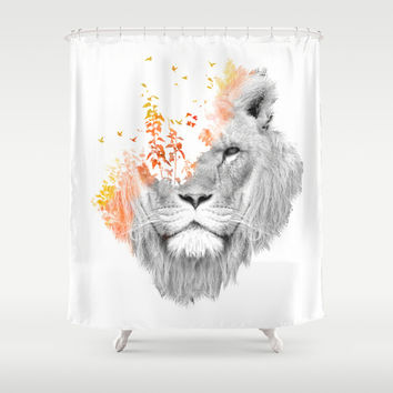 If I roar (The King Lion) Shower Curtain by Budi Satria Kwan