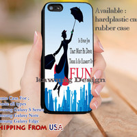 Fun Mary Poppins Quotes iPhone 6s 6 6s+ 5c 5s Cases Samsung Galaxy s5 s6 Edge+ NOTE 5 4 3 #quote dl13
