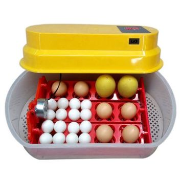 12 Eggs Incubator Auto-turning Poultry Hatcher Chicken 110V Duck, Goose