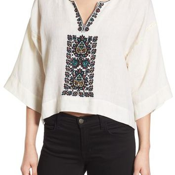 Plenty by Tracy Reese Embroidered Crop Tunic Top | Nordstrom