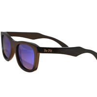 Be Fit - Black Bamboo Wood Sunglasses