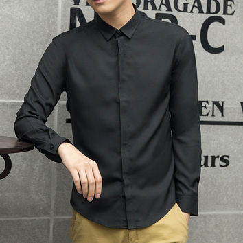Summer Men's Fashion Casual Stylish Embroidery Blouse [6544627715]