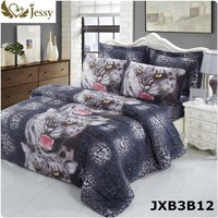 Home Fashion Textile 3D Tiger Horse Animal Bedding Sets Wolf Bedding Sets 4Pcs Bed Linens Twin Queen King Bedding Set