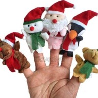 5pcs/set Christmas Finger Puppets Pretnd Toy Baby Learn Story Gift Bag Filler