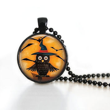 Halloween Necklace Halloween Pendant Witch Jewelry Witch Pendant Halloween Jewelry Halloween Party Jewelry Holiday Necklaces
