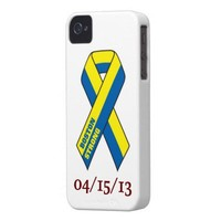 BOSTON STRONG 04/15/13 RIBBON iPhone 4 Case-Mate CASE from Zazzle.com