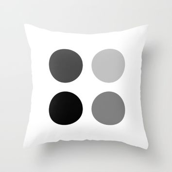 #38 Circles Throw Pillow by Minimalist Forms