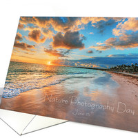 Gorgeous Beach Image for Nature Photography Day card