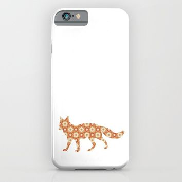 FOX SILHOUETTE WITH PATTERN iPhone & iPod Case by deificus Art