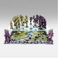 3D Fairy Pewter Chess Set