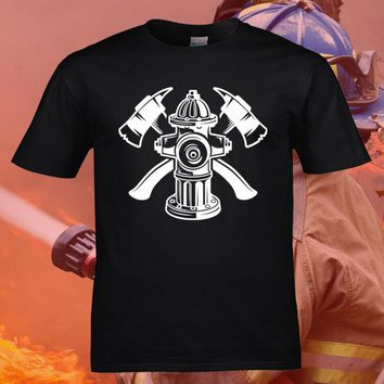 Firefighter Fire Hydrant Axes - Fireman T-Shirt