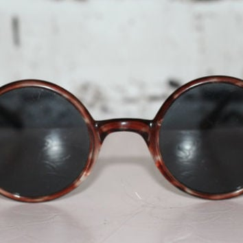 90s round sunglasses sunnies brown marble grunge hipster boho hippie festival pastel goth unisex non rx oversized 70s