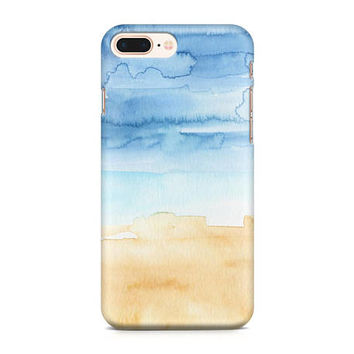 Ocean Watercolor Phone Case, Beach Phone Case, Nautical Phone Case, Sea Shore Phone Case, iPhone 8, Samsung Galaxy S8