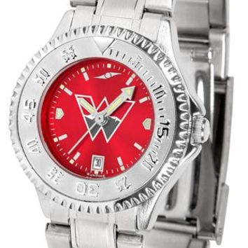 Western State Colorado University Mountaineers Ladies' Competitor Steel AnoChrome Watch