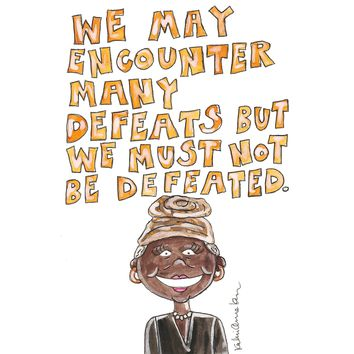 Maya Angelou Quote Illustration