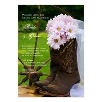 Rustic Daisies Country Wedding Invitation from Zazzle.com