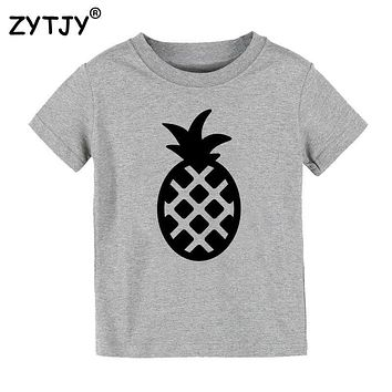 pineapple Print Kids tshirt Boy Girl t shirt For Children Toddler Clothes Funny Top Tees Drop Ship Y-39