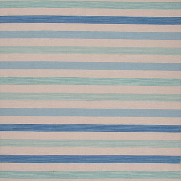 Blue Seashore Heaven Striped Rug
