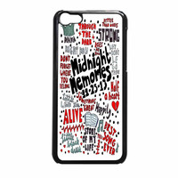 One Direction Collage Lyric Art iPhone 5c Case