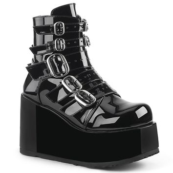 Demonia - CONCORD-57 - Black Patent - Women's Ankle Boots