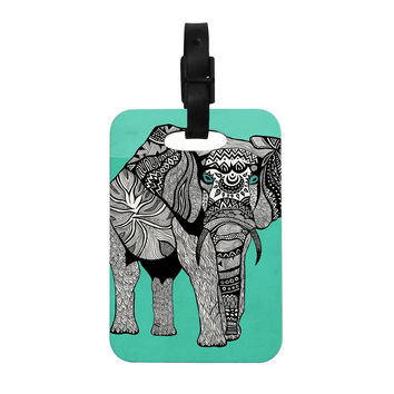 "Pom Graphic Design ""Elephant of Namibia Color"" Decorative Luggage Tag"