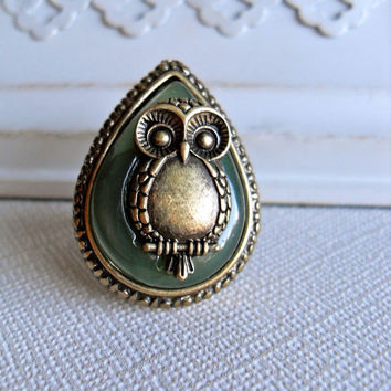 Sweet Owl Ring by labellemoon on Etsy