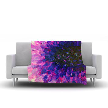 "Ebi Emporium ""Limitless"" Pink Purple Fleece Throw Blanket"