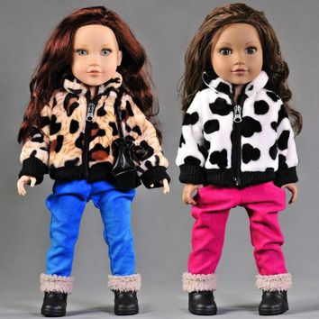 New Arrival 2pcs/set Leisure Coat+Pants For American Girl Doll 18 Inch Doll Clothes And Accessories
