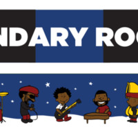 The Legendary Roots Crew Winter Scarf - Blue & Black