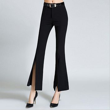 Flared  pants trousers high waist