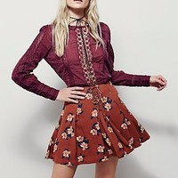 Free People Womens Lovely Lace-Up Mini