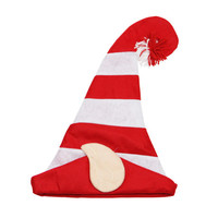 Red And White Felt Elf Hat With Tassel