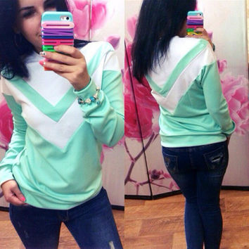 Geometric Pattern Long Sleeve Sweater