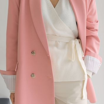My Boyfriend Over Fit Jacket (Pink)
