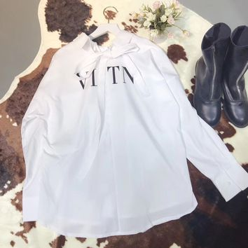 Valentino '' VLTN '' Women Long Sleeved Shirt