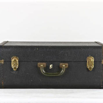 Vintage Black Suitcase, Black Leather Suitcase, Vintage Suitcase, Old Suitcase, Old Black Suitcase, Vintage Leather Suitcase, Luggage