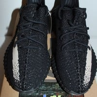 Adidas Yeezy Boost 350 V2 Black White Sneakers Men's Size 7.5 8 8.5 10 10.5 New