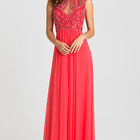 Floor Length High Neck Formal Gown by Madison James