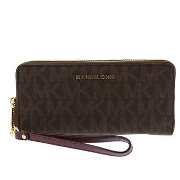 LMFON MICHAEL Michael Kors Jet Set Signature Travel Continental Wallet