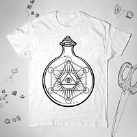 Eye of Providence Graphic Alchemy Women Men Shirt Top Tee