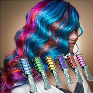 Temporary Hair Multicolor Dye Comb