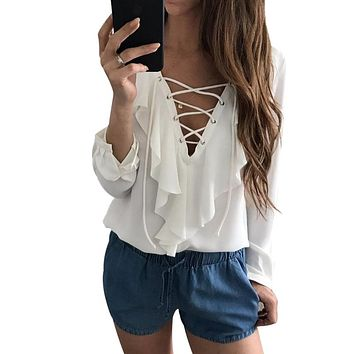 Chest Wrap Blouse