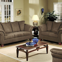 Sienna Chocolate sofa and loveseat by Serta Upholstery