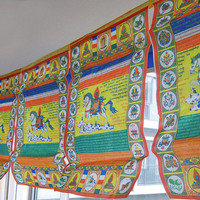 Tibet Sutra streamer ~ Tibetan Buddhist Wind Horse prayer flags ~ 3 meters
