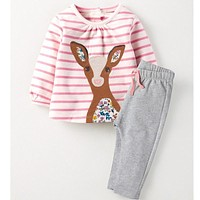 Children Clothing Set 2017 Toddler Girls Clothes Character Tracksuit Kids Costumes Vetement Fille Girls Outfits (Dress+Pants)