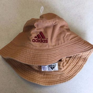 d0135aaaf7e MDIGOK8 BRAND NEW ADIDAS KHAKI BUCKET HAT SMALL MEDIUM SHIPPING