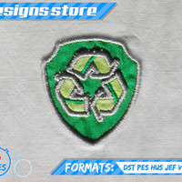 Paw Patrol Applique Design ROCKY BADGE EMBROIDERY pattern