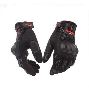 ac NOOW2 Motorcycle Gloves Cycling Racing Riding Protective Gloves Motocross Gloves for Scoyco MC12 Full Finger Carbon Safety