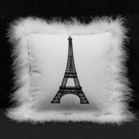 Wake Up Frankie - Eiffel Tower Decorator Pillow - White : Teen Bedding, Pink Bedding, Dorm Bedding, Teen Comforters